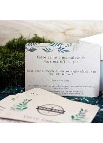 Carte Cadeau Bougie Wabi Sabi