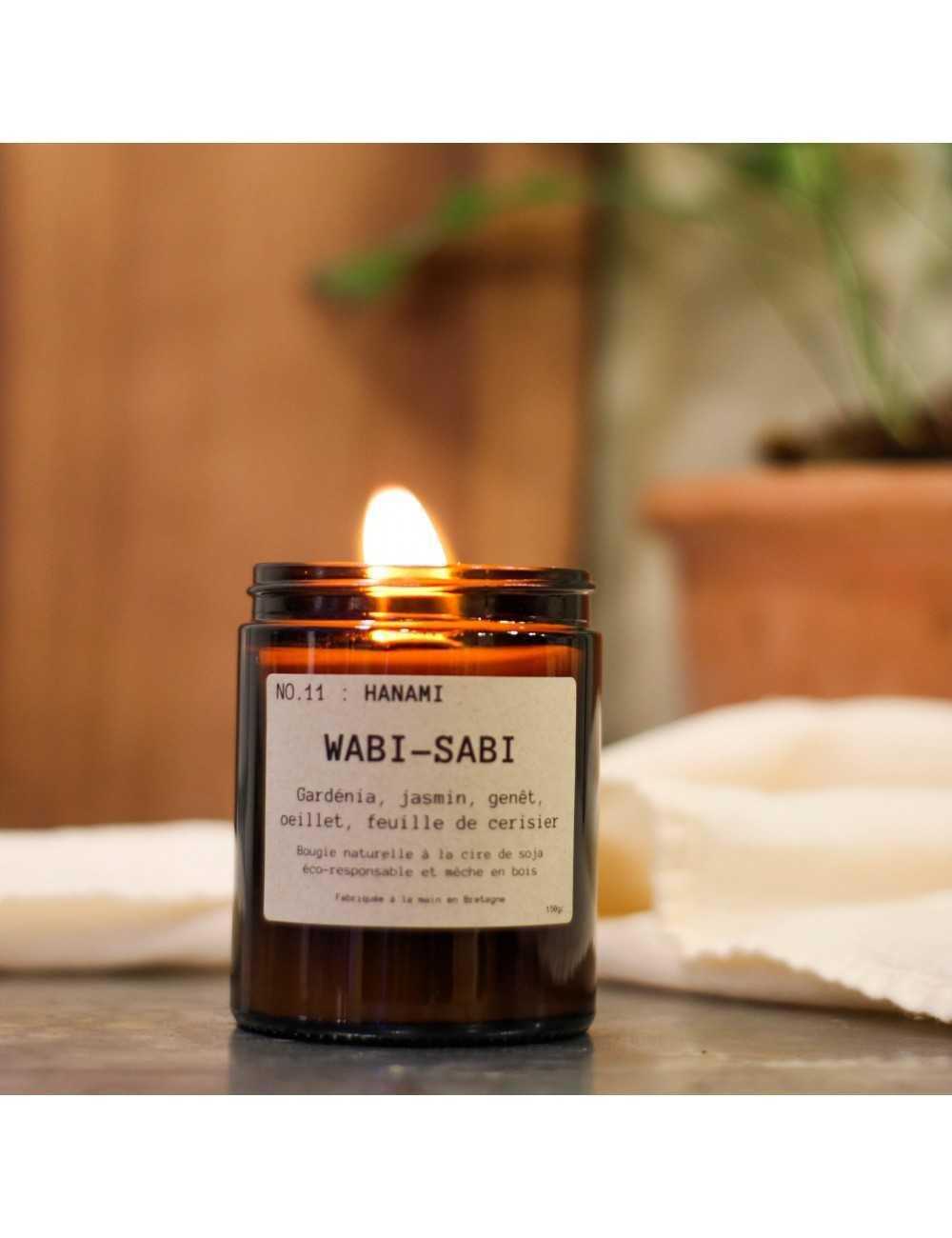 Bougie parfumée Gardénia |Wabi-Sabi